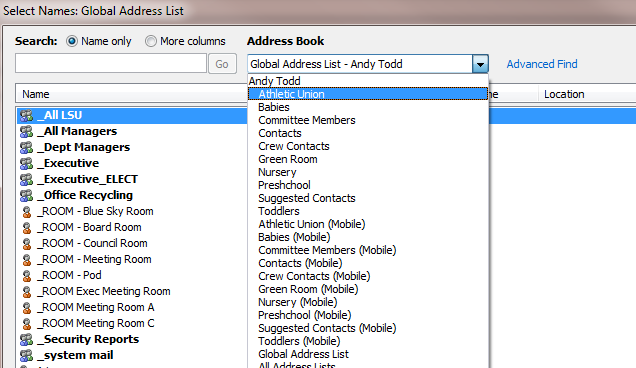 How to add public folder contacts to the Outlook Address Book