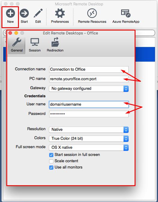 Remote Desktop Setup on Mac
