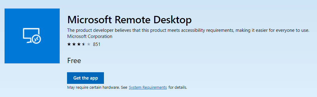 How to change scaling options in the Windows 10 Remote Desktop App